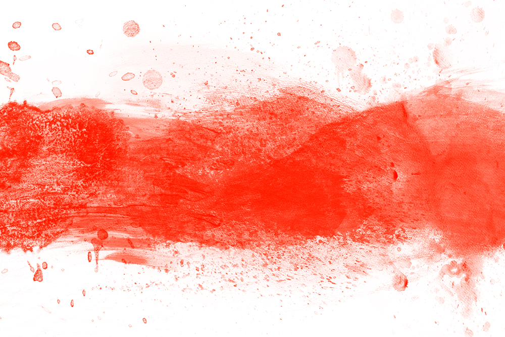 Red watercolor splashes of paint on canvas. Abstract background. Super high resolution and quality. Perfect for brush, design, template etc.